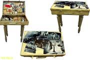 столик чемодан ручной работы