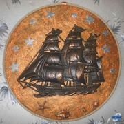 Декоративное настенное панно Фрегат