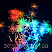 Гирлянда Светодиодная  LED Бахрома-Дождь со Снежинкой-120