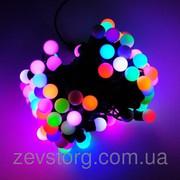 LED Гирлянда нить ШАРИКИ 5 м,  черный кабель(50 Led), RGB, 24 мм